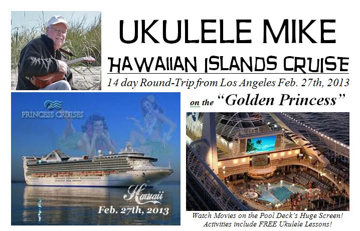 Join UKULELE MIKE on a cruise around Hawaii!
